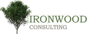 Ironwood consulting tree logo